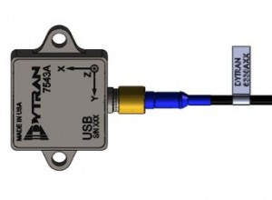 Dytran 5340 USB triaxial accelerometer system